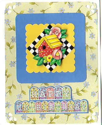 3-D Decoupaage un-birthday