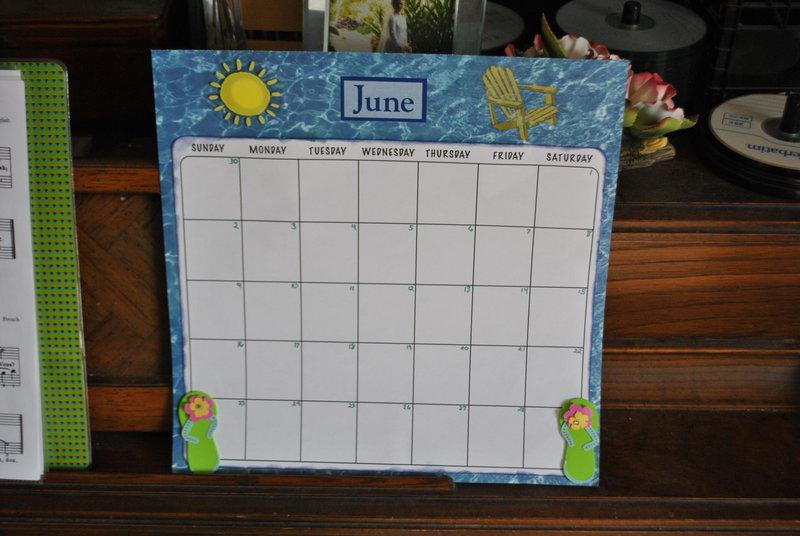 June Baby Calendar Page