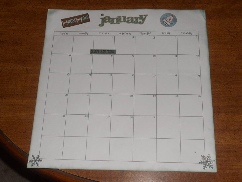 Jan Baby Calendar Page