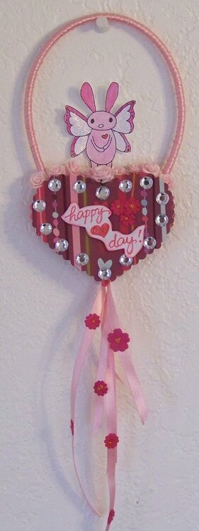 Altered wooden heart