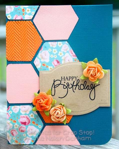 Hexagon Happy Birthday