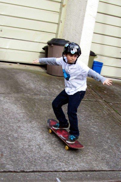 Skateboarding Action