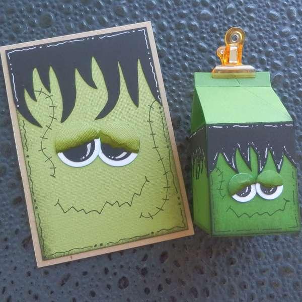 Frankenstein card and treat holder