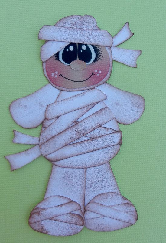 halloween embellishment - mummy