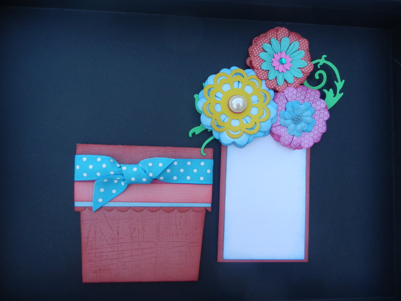 flower pot card with insert