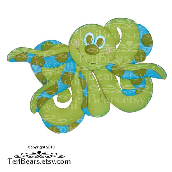 Octopus paper piecing pattern
