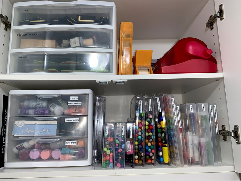 Gel Pens, Xyron, Distress Crayons, Stickles, Etc.