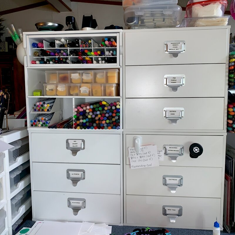 Ink Pad Drawers & Watercolor markers
