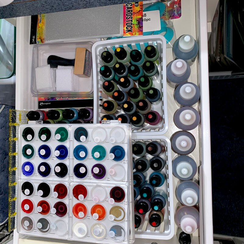 Alcohol ink and supplies