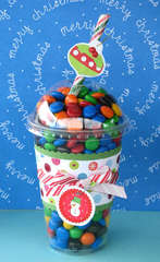 Altered Christmas M&M Smoothy
