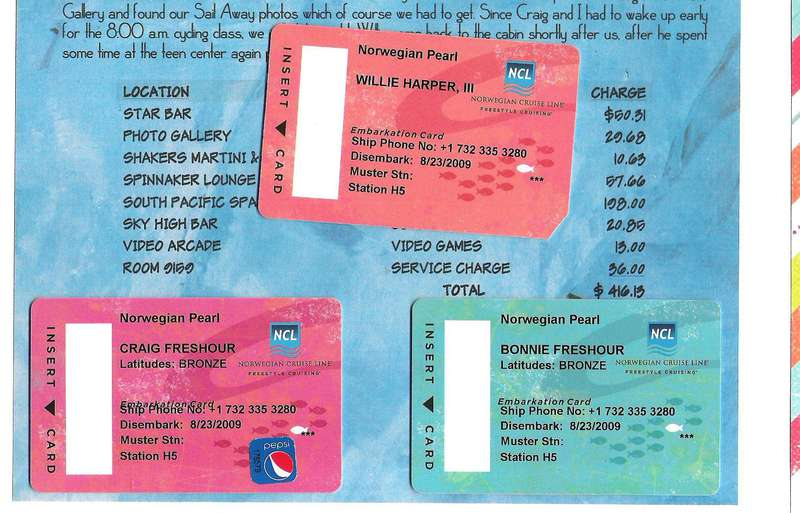 2009 NCL Cruise Cards