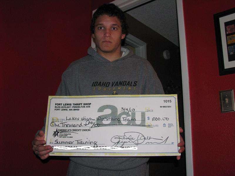 Big check