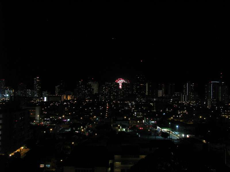 Cityview with Fireworks