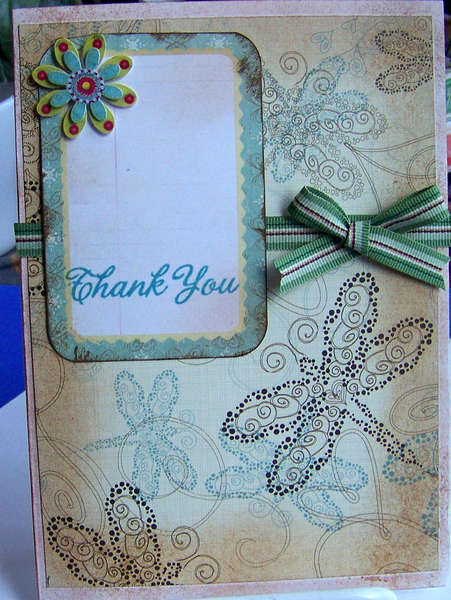 Distressed Thank You Card