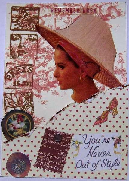 Vintage Handmade Postcard