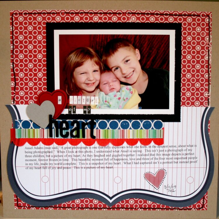 A Picture of my Heart {March KraftGirlKit}