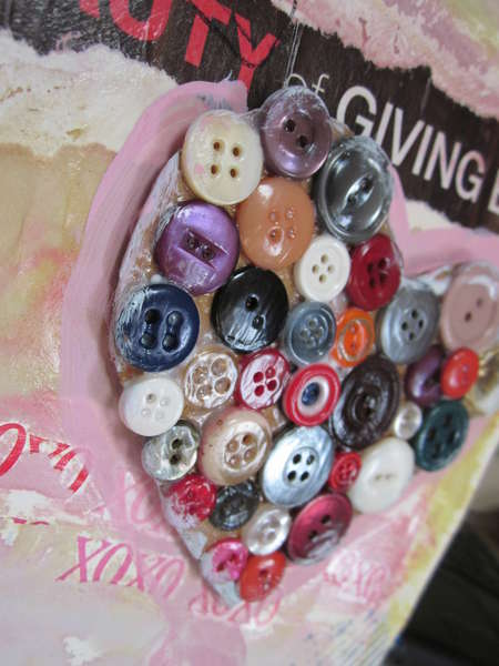 Close Up of button heart
