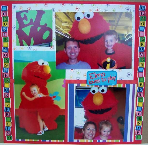 Elmo loves to play
