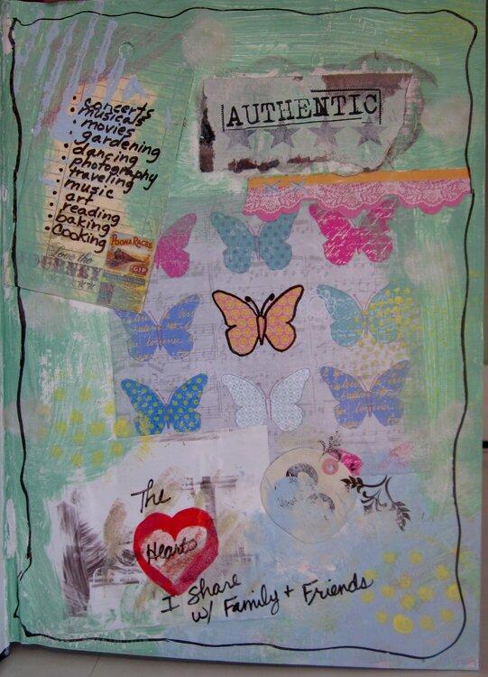 She Had Three Hearts - Art Journal -7