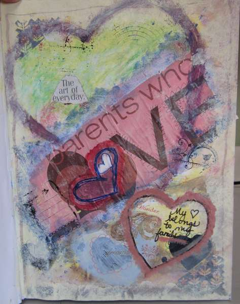 She Had Three Hearts - Art Journal