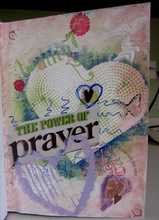 She Had Three Hearts - Art Journal -8