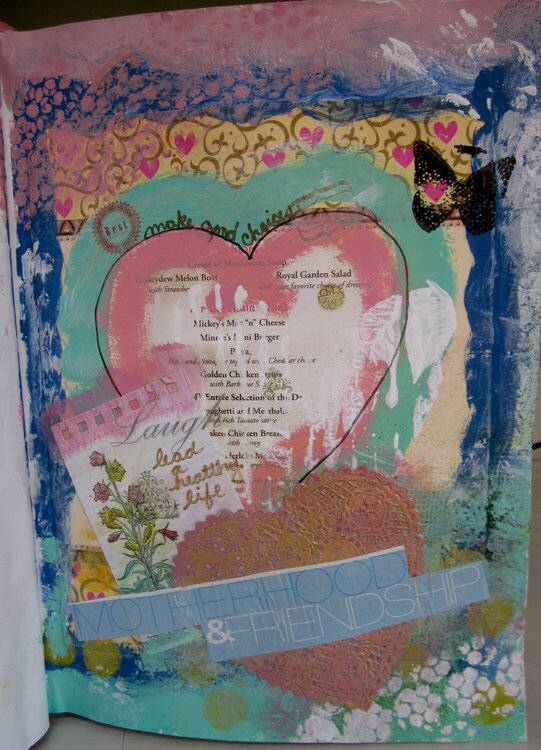She Had Three Hearts - Art Journal - 5