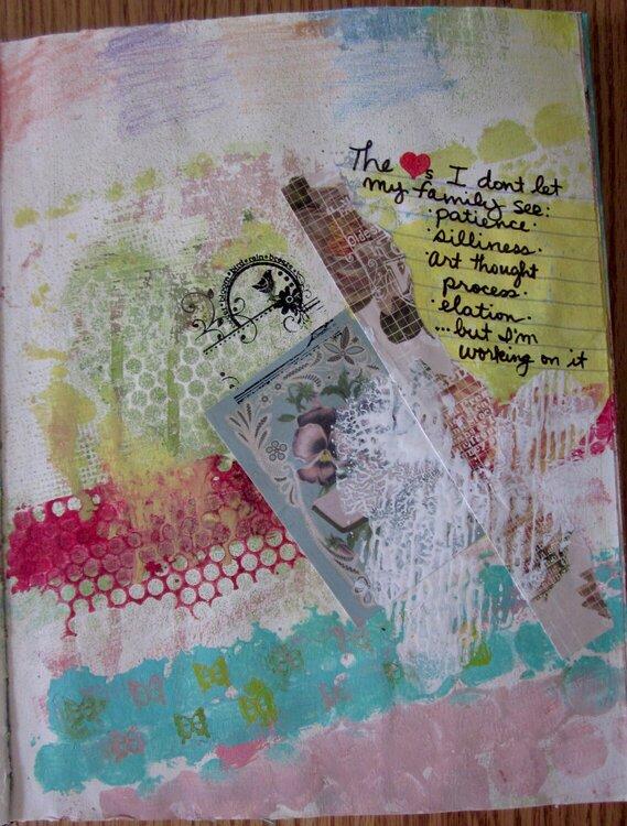 She Had Three Hearts - Art Journal 11