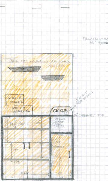 Scrapbook Supply Cabinet Design Overlay