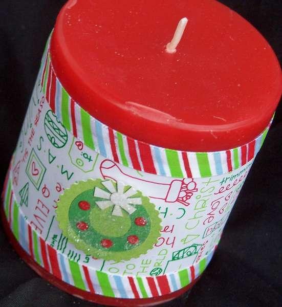 Fun Christmas Candle