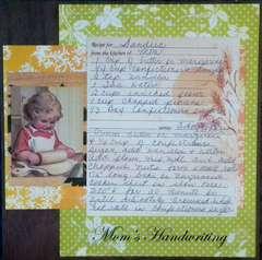Mom's Handwriting *