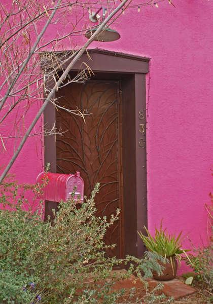 Pink and Aubergene