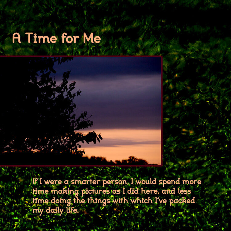 A Time For Me