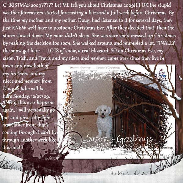 Christmas 2009 Through Beacon's Eyes