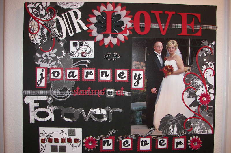 Altered Art Wedding Picture