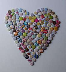 American Crafts Badges- Heart to hang