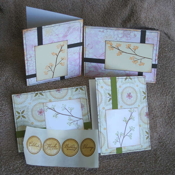 Card Set with Adhesive Sentiment Seals