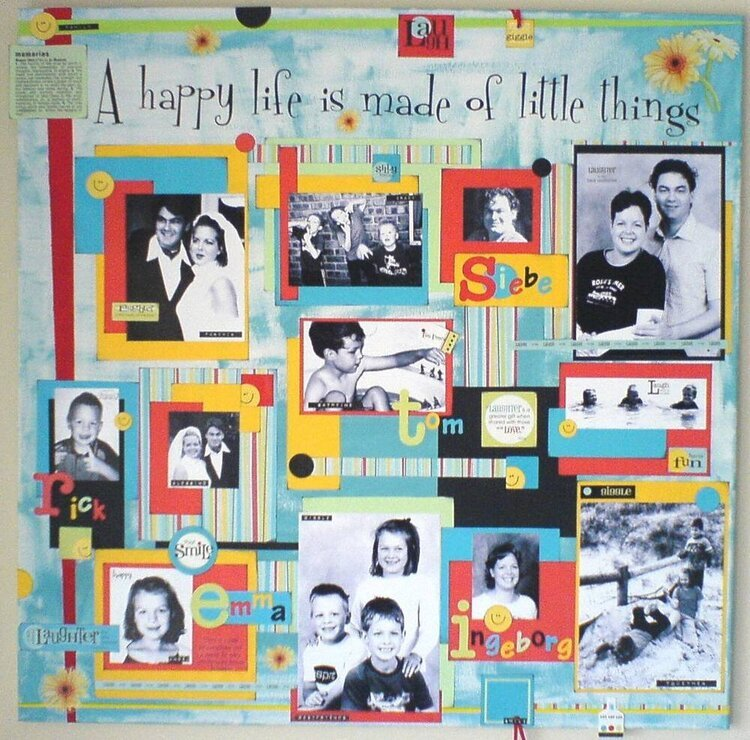 Canvas - Our Family - Happy life is made of little things -