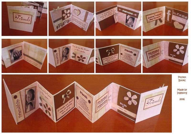 Pocket Book - Minibook - Friendship - Pink / Brown