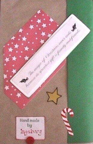 Paper Bag Album - Christmas - Back Cover