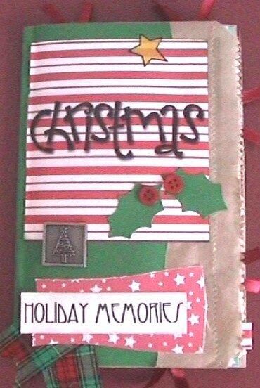 Paper Bag Album - Christmas Cover