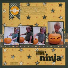 Carving a Pumpkin Ninja