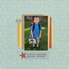 Trevor deRosier, Second Grader