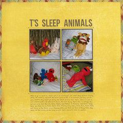 T's Sleep Animals