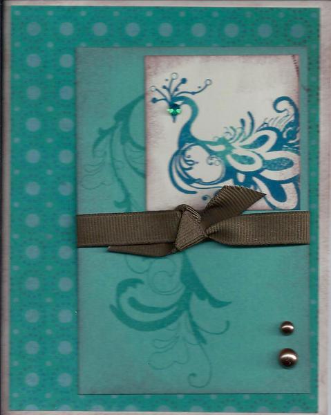 CTMH Blank Peacock Card