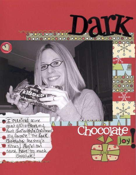 Dark Chocolate Joy!  *Christmas in January Challenge*