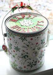 Altered Paint Can for Christmas in Afghanistan