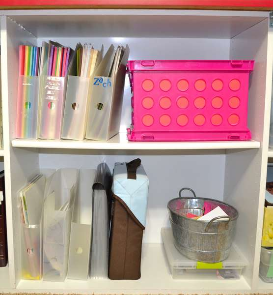 Cardstock and embellishment storage