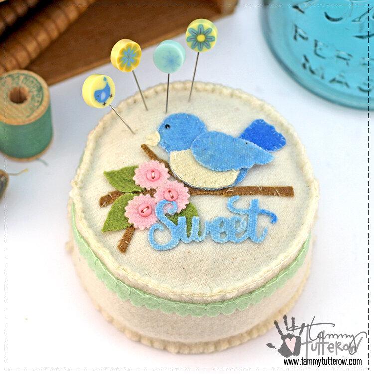 Sweet Tweets Round Pincushion