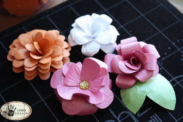 Bazzill Flower Pot Layered Flower