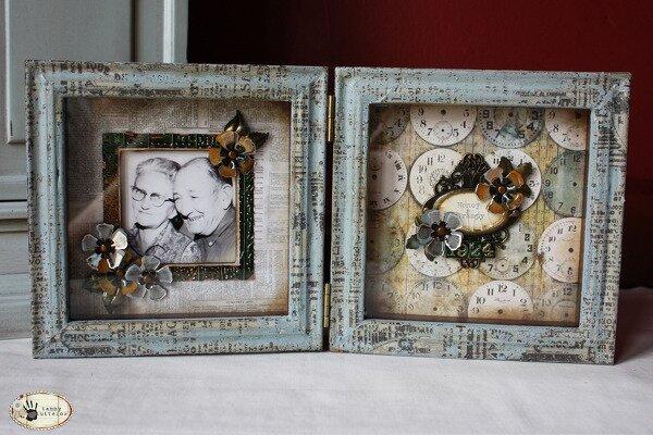 Tim Holtz Design Team: Honey and Grampy Frame